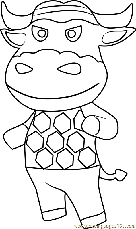 Vic Animal Crossing Coloring Page