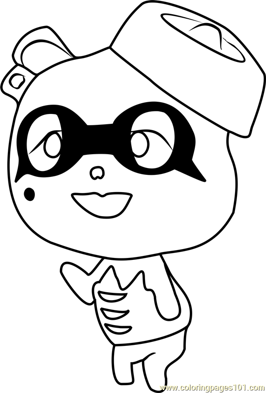 Viché Animal Crossing Coloring Page