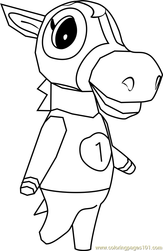 Victoria Animal Crossing Coloring Page