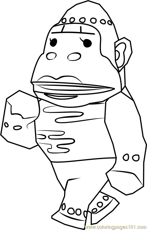 Violet Animal Crossing Coloring Page