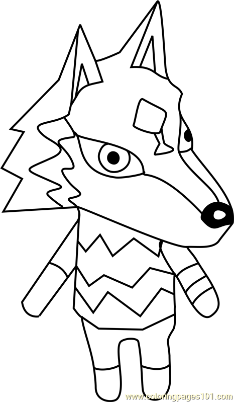 W Link Animal Crossing Coloring Page