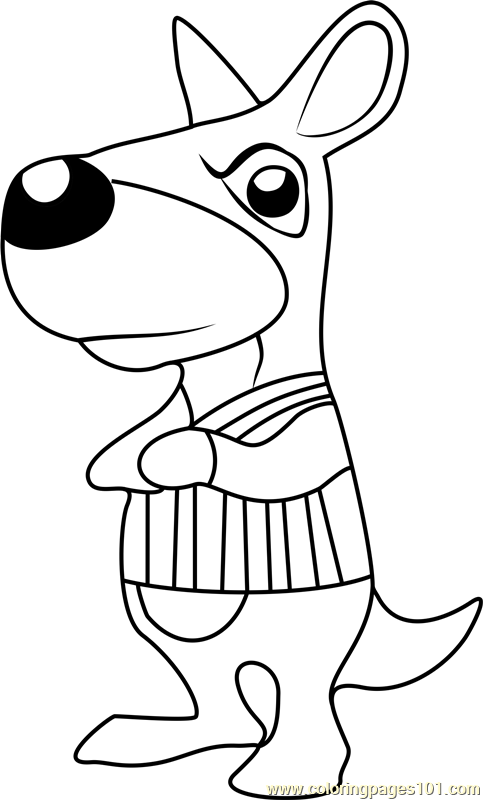 Walt Animal Crossing Coloring Page