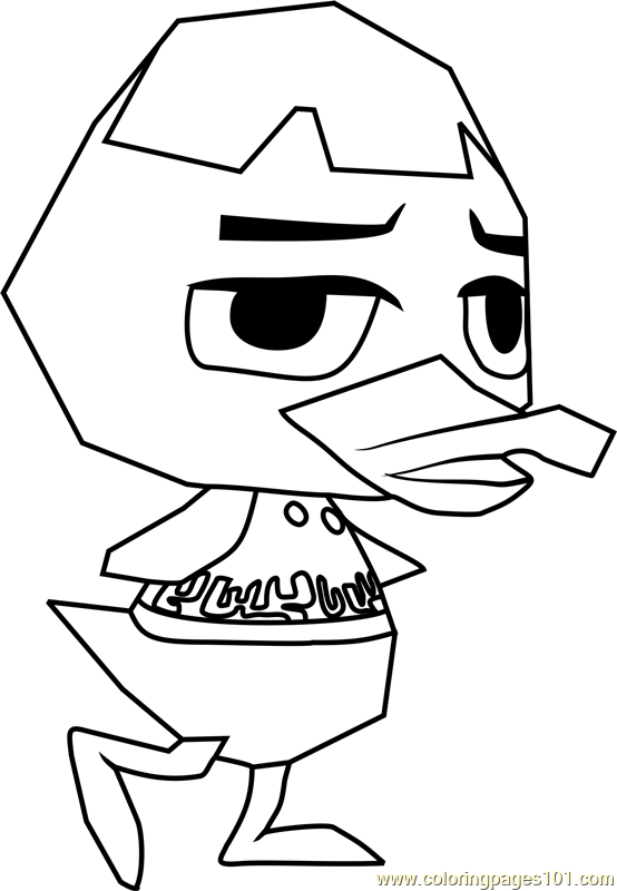 Weber Animal Crossing Coloring Page