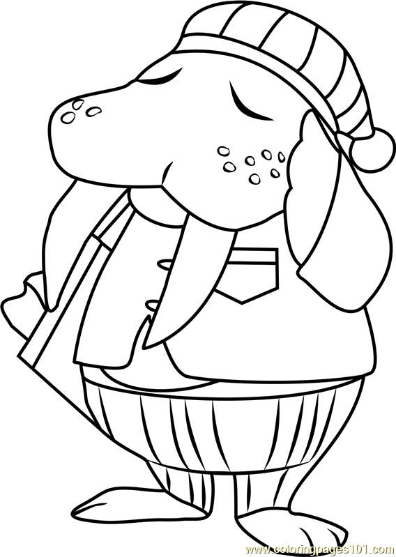Wendell Animal Crossing Coloring Page Free Animal