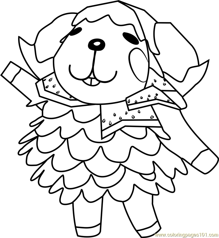 wendy animal crossing coloring page