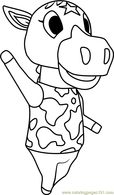 winnie animal crossing coloring page
