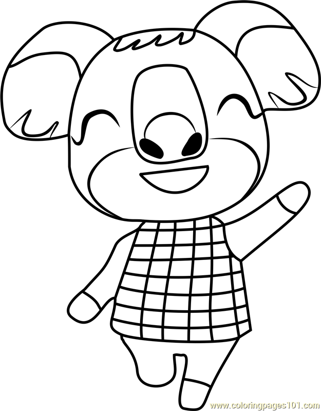yuka animal crossing coloring page