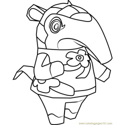 Anabelle Animal Crossing Free Coloring Page for Kids