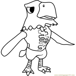 Apollo Animal Crossing Free Coloring Page for Kids