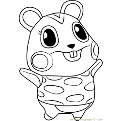 Apple Animal Crossing Free Coloring Page for Kids