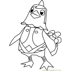 Becky Animal Crossing Free Coloring Page for Kids
