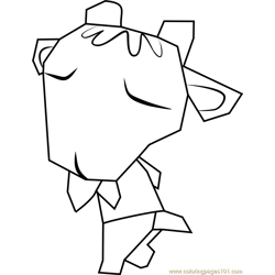 Billy Animal Crossing Free Coloring Page for Kids