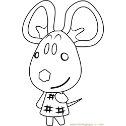 Dora Animal Crossing Free Coloring Page for Kids