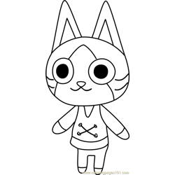 Felyne Animal Crossing Free Coloring Page for Kids