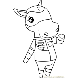 Filly Animal Crossing Free Coloring Page for Kids