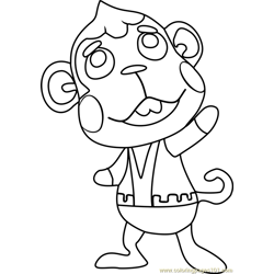 Flip Animal Crossing Free Coloring Page for Kids