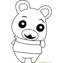 Flurry Animal Crossing Free Coloring Page for Kids