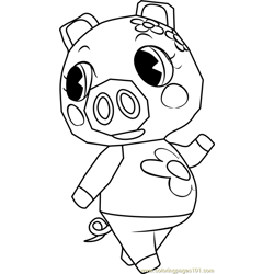 Gala Animal Crossing Free Coloring Page for Kids