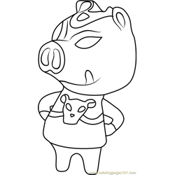 Ganon Animal Crossing Free Coloring Page for Kids
