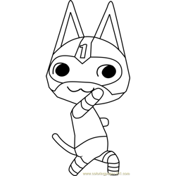 Kid Cat Animal Crossing coloring page