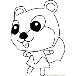 Kit Animal Crossing coloring page