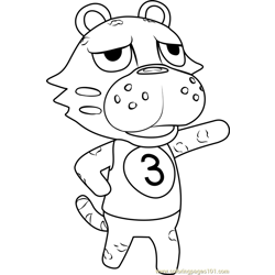 Leonardo Animal Crossing coloring page