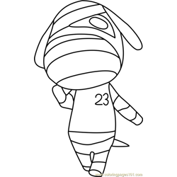 Lucky Animal Crossing Free Coloring Page for Kids
