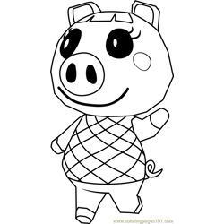 Lucy Animal Crossing coloring page
