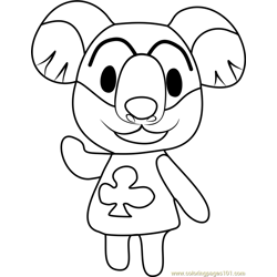 Lyman Animal Crossing coloring page