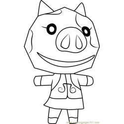 Maggie Animal Crossing coloring page