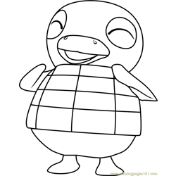 Roald Animal Crossing Free Coloring Page for Kids