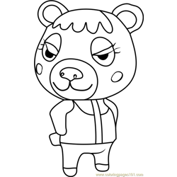 Tammy Animal Crossing Free Coloring Page for Kids