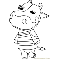 Tipper Animal Crossing Free Coloring Page for Kids