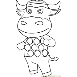 Vic Animal Crossing Free Coloring Page for Kids