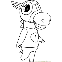 Victoria Animal Crossing Free Coloring Page for Kids