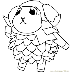 Willow Animal Crossing Free Coloring Page for Kids