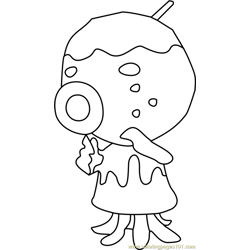 Zucker Animal Crossing Free Coloring Page for Kids