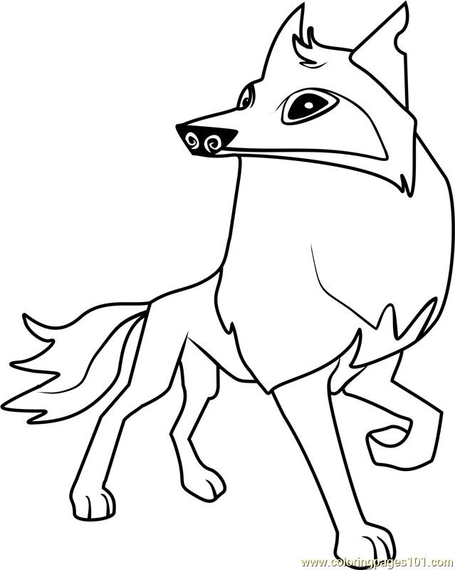 Arctic wolf Animal Jam Coloring Page