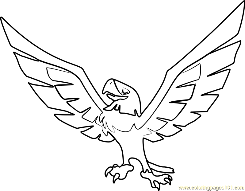 Eagle Animal Jam Coloring Page