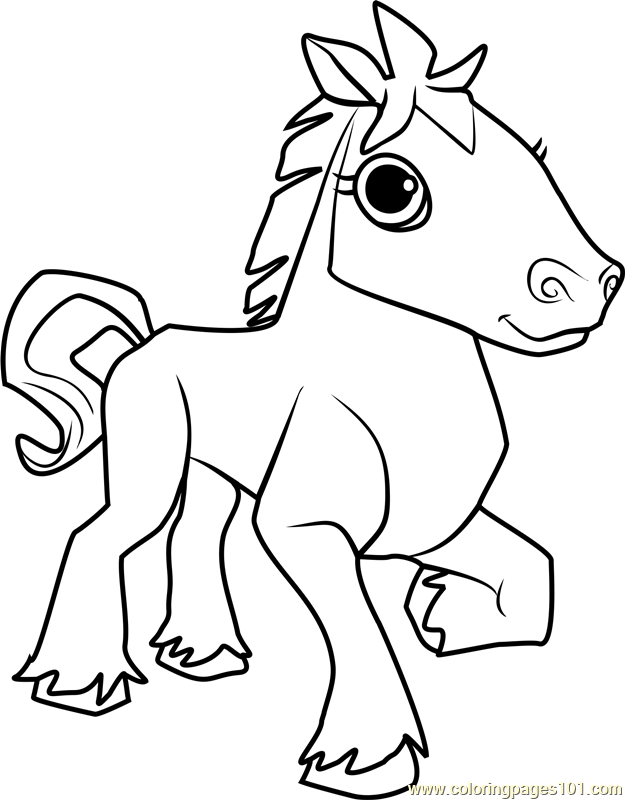 Horse Animal Jam Coloring Page