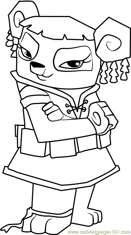 Liza Animal Jam Coloring Page Free Animal Jam Coloring Pages