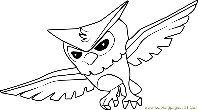 Owl Animal Jam Coloring Page