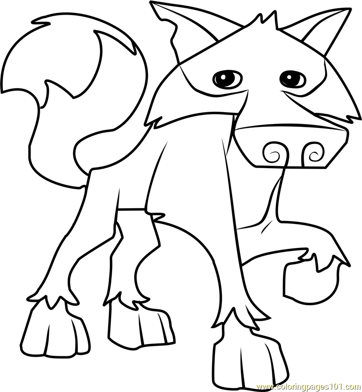 animal jam coloring pages - wolf animal jam coloring page free animal jam coloring