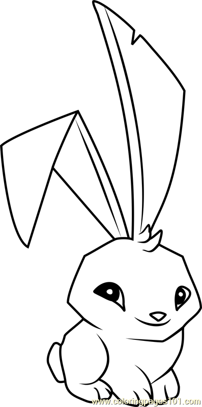 bunny animal jam coloring page