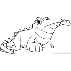 Crocodile Animal Jam Free Coloring Page for Kids
