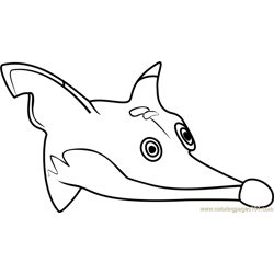 Fluffy Fox Head Animal Jam Free Coloring Page for Kids