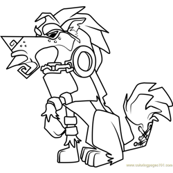 Greely Animal Jam Free Coloring Page for Kids
