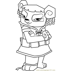 Liza Animal Jam Free Coloring Page for Kids