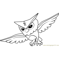Owl Animal Jam Free Coloring Page for Kids