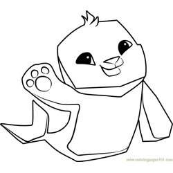 Seal Animal Jam Free Coloring Page for Kids